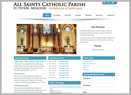 Best Catholic Website Templates And Themes Connecting Members - Church website templates