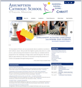 Catholic School Website Design Example