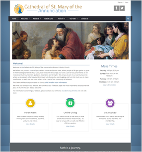 Best Catholic Church Websites