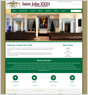 Best Catholic Parish Websites
