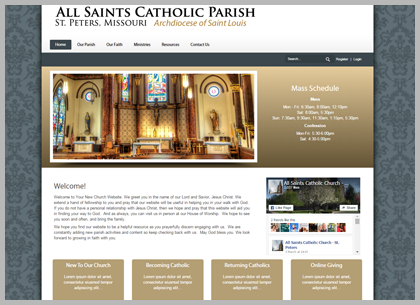 Catholic Church Websites Designs and Templates