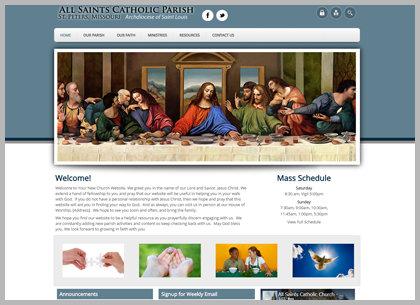 Best Catholic Website Templates and Themes