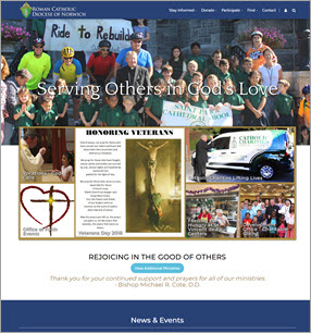 Catholic Diocese Website Design