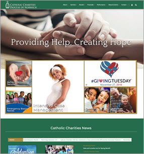 Charities and Parish Web Design