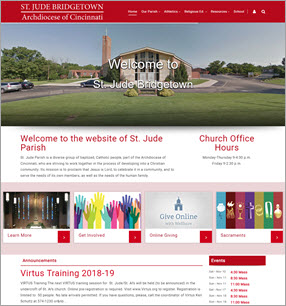 Catholic Parish Website Design at St. Judes