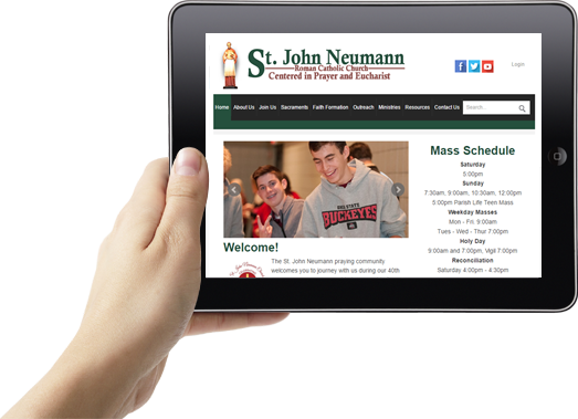 Catholic Website Design Example